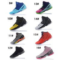 Wholesale Light Grey Suit Purple Tie - New MVP Curry 2 Surprise Party Birthday Storm Haight Street Northern Lights All Star Suit&Tie Long Shot Top Sports Training Sneakers
