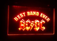 B-58 Best Band Ever ACDC beer bar 3d assina culb pub led néon light sign home decor crafts