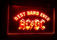 ingrosso best band ever-b-58 Best Band Ever ACDC birra bar 3d segni culb pub led luce al neon segno decorazioni per la casa artigianato