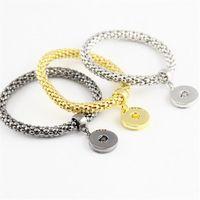 pulseiras de pulseira de ouro de tendência venda por atacado-NOOSA Pulseiras Cadeia Fasion Jóias Tendência Jóias de Prata Banhado A Ouro Bangle Intercambiáveis Ginger Snaps Botão Charme Presente de Natal