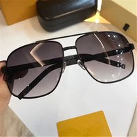 Wholesale Brand Packaging Design - 0759 Sunglasses Luxury Men Brand Fashion Square design UV Protection Lens Coating Mirror Lens Frameless Color Plated Frame Come With package