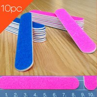 Wholesale Trimming Wood - New Nail Sanding File 10pc Random Wood Nail Trimming Files Sanding Polishing Sandpaper Pedicure Manicure Care Tools Beauty 2017
