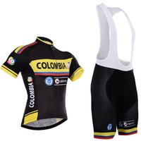 Wholesale pro cycling for sale - 2017 Colombia team cycling jersey bibs shorts set quick dry MTB Ropa Ciclismo cycling wear Pro BICYCLING Maillot Culotte C1001