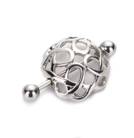 Wholesale Wholesale Sale Plate Cover - Simple Hollow Nipple Shields Covers Rings Ball Barbells 316L Surgical Stainless Steel Piercing Nipple Clips Chains on Sale