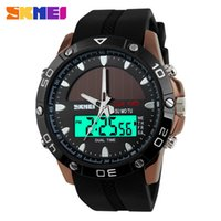 Wholesale Military Energy - 2017 New SKMEI Brand Solar energy Watch Digital Quartz Men Sports Watches Multifunctional Outdoor Military Dress Wristwatches