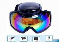 Wholesale Sport Ski Camera - New Arrival HD 1280x720 AVI video Skiing Goggles outdoor sport glasses dvr camera glasses for skiing