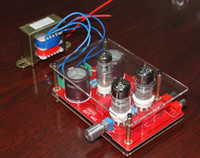 Wholesale Pre Amplifier Kit - Freeshipping Pre-amp Tube Amplifier Headphone Kit 6N3 with Rectifier Board&Transformer for DIY