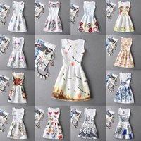 Wholesale china dresses wholesale free shipping - Newest fashion Women Casual Dress 11 Styles Cheap China Dress Women Clothing Fashion Sleeveless Summer Dress Free Shipping