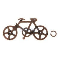 Wholesale Metal Mind Teasers - Wholesale- Classic Bicycele Metal Cast Puzzle IQ Mind Brain Teaser Adults & Kids 4 Lvels