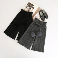 black knit pants girls - Everweekend Girls Fall Spring Knitted Harem Pants Pleated knitted Ball Pants Cute Gray and Black Sweater Pants