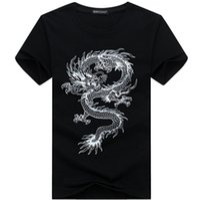 Wholesale Tattoo Flash Dragon Free - Wholesale- New 2016 Summer Fashion Brand T Shirts for Men Novelty Dragon Printing Tattoo Male O-Neck Hip Hop T Shirts S-5XL free shipping