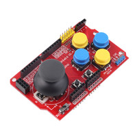 Wholesale Joystick Module Arduino - New 3.3V to 5V Gamepad Joystick Shield Module Game Rocker Button Controller Expansion Board For Arduino Simulated Keyboard Mouse
