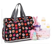 paquetes de pañales al por mayor-Bolsas de pañales para bebés bolsa de pañales bolsa de hombro para la madre Bolsas de bebé de gran capacidad Bolsas de cochecito de bebé impermeable Paquete de viaje Luiertas