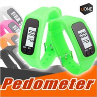 Wholesale Distance Watch - Digital LED Pedometer Smart Multi Watch silicone Run Step Walking Distance Calorie Counter Watch Electronic Bracelet Colorful Pedometers
