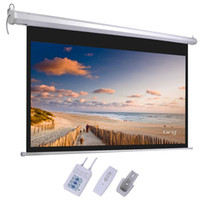 "Wholesale Electric Projector Screen Remote - 100"" 16:9 87"" x 49"" Viewing Area Motorized Projector Screen with Remote Control 88022051"