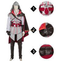 Wholesale ezio costume online - Assassins Creed Costume Ezio Auditore Da Firenze Costume Halloween Costume For Men Custom Made