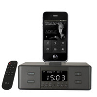 Wholesale Speakers Docking Station Bluetooth - D9 Smart Charger Dock Station NFC Bluetooth Stereo Speaker with FM Radio Dual Alarm Clock Remote Control LCD Screen for Phone