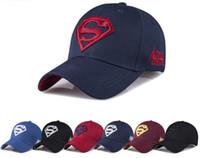 boné de sol superman venda por atacado-Verão boné de beisebol ao ar livre homens e mulheres casual moda superman cap masculino sol chapéu de sol atacado