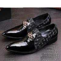 Wholesale Western Dress Shoes - western High Increased Black Men's Leather Shoes Pointed Toe Business Leather Shoes