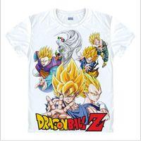 Wholesale Sun Sleeves For Men - Wholesale- dragon ball z t shirt for men Super Saiyan goku Sun Wukong Piccolo Master Roshi t-shirt Classic Anime Vegeta unisex tshirt tops