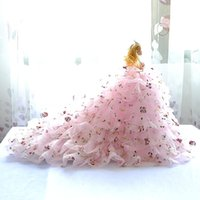 Wholesale Skirt China Wholesale - Fashion 3 d true eye barbie princess dress skirt trailing birthday gift toys children's day