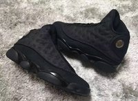 Wholesale Cats Women Shoes - (with box) AAA+ quality air retro 13 black cat men women basketball shoes retro 13s sports Sneaker Athletics Shoes size 36-47
