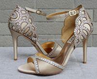 Wholesale Dinner Shoes - blue champagne wedding shoes 2017 bridal heels evening heels for wedding evening shoes prom party dinner shoes