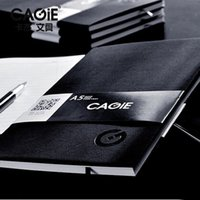 Notepads black leather notepad - CAGIE A4 A5 Business Meeting Notepad Planner Organizer Agenda Filofax Men Women Office Brown Black Daily Memos Diary Notebook