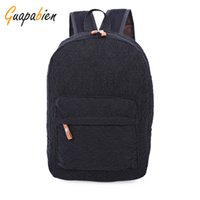 Wholesale Korean Book Bags - Wholesale- Guapabien Fashion Korean Preppy Style Lace Canvas Women Backpack Travel Rucksacks Youth Campus Book Bags School Black White Bags