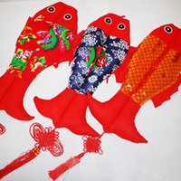 Wholesale Handcrafts Art - The Old Coarse Cloth Chinese Knot Hanging Fish Pendant Home Decoration Tourism Handcrafts Chinese style gift