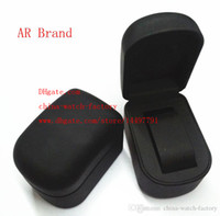 Wholesale Ladies Materials - Luxury Brand Watch Boxes & Cases With Original Box Papers Card Tag Black Rubber Material Use AR1410 AR1401 Mens Men's Ladies Watches
