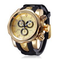 Wholesale Silicone Watch Free Ups - Mens Luxury Fashion Quartz Watch Big Dial 3 Small Decoration Dial Silicone Band Big Dial Watch AAA Watch Business Free DHL for 50pcs up