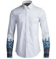 Wholesale Chinese Winter Style Men - New men brand HOT 2017 Autumn winter Chinese style originality Embroidery Business shirt