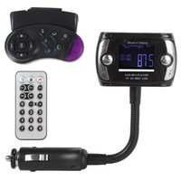 Wholesale Car Mounting Kit - 1.5 Inch LCD Screen FM Transmitter Modulator Bluetooth Handsfree Car Kits + MP3 MP4 Player + AD2P+ Steering Wheel Mount CEC_262