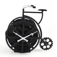 Wholesale Bike Decoration Accessories - Wholesale-Creative Retro Bike Model Gear Desk Clock Ornament Art and Craft Accessories Embellishment Furnishing for Decoration and Present