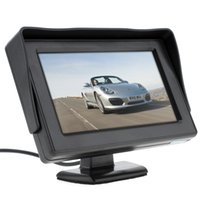 Wholesale Lcd Video Hd Monitor - 4.3 Inch HD 480 x 234 Resolution 2-Channel Video Input TFT-LCD Car Monitor for Rear View Camera   DVD   VCD CMO_30B