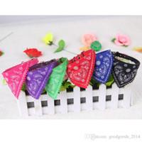 Wholesale Cute Dog Muzzles - New Brand Cute Pet Dog Cat Puppies Triangular Bandage Pet Dog Collars Scarf Neckerchief Dog Accessories 7 Colors b135