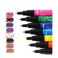 Wholesale Drive Tool Kit - drive de 2gb 12 Colors Professional 3D Nail Art Paint Drawing Acrylic Nail Art Polish Carved Pen Kit Set DIY tools