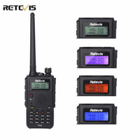 Double Vhf Uhf Walkie Talkie Pas Cher-Vente en gros 8W Walkie Talkie Retevis RT5 Dual Band Radio VHF / UHF 136-174 + 400-520MHz 128CH Scan VOX Radio FM 1750Hz Two Way Radio A9108Q