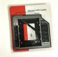 hdd estranho venda por atacado-Hot Computadores de Rede De Plástico De Alumínio 2.5 2 9.5mm Ssd Hd SATA Unidade de Disco Rígido HDD Caddy Adaptador Drive Bay Para Cd Dvd Rom Óptica Bay