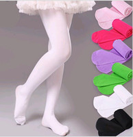 Бесплатная доставка Baby Girls Pantyhose Dance Stocking Kids Kids Velor Ballet Leggings Pants Candy Color Tights для девочек 20 цветов выбрать