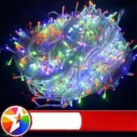 Wholesale Hot Pink Rgb - Hot Christmas LED String Light 9 colors 10m 20m 30m Xmas Led Christmas Wedding Party Home Decoration Lights 110V 220V
