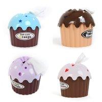 ingrosso distributore di tovaglioli di tessuto-All'ingrosso-New Adorable HOT Ice Cream Cupcake Box Telo Portasciugamani Contenitore di carta Dispenser Cover Home Decor
