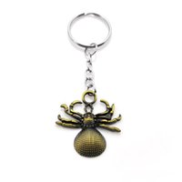 Wholesale Girls Spider Jewelry - Original New Fashion High Quality Spider Keychain Women's Key Ring Alloy Men's Keychain Party Jewelry Gift