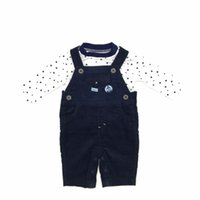 Wholesale Stars Suspender - Baby Clothes Boys Sets Cotton Tshirt Suspender Star Pattern Thick High Quality Brand Infant Boys Clothing