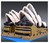 Wholesale Opera Settings - 2989pcs New LEPIN 17003 sydney opera house Model Building Blocks Set Compatible CREATOR 10234 Architecture toys brithday gifts