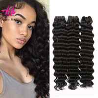 Wholesale Hair Fusion Sale - 3 boundles Malaysian Loose Deep Wave Hair Weave Natural Color Fusion Hair Extension Hairme Queen Hair Weft For Sale Free Shipping
