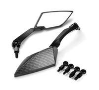 Wholesale Custom Motorcycles Mirrors - 1 pair *Motorcycle Custom RearView Side Mirrors For Ducati BMW KTM Dual Sport Dirt Carbon fiber moto bike mirror