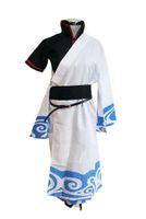 traje cosplay gintoki venda por atacado-Kukucos Anime Japonês Gintama Cosplay Sakata Gintoki Cosplay Quimono Traje Tamanho Masculino