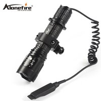 Wholesale Tactical Flashlight Remote Pressure Switch - AloneFire TK400 Tactical Flashlight L2 LED Torch Lamp Flash Light Lantern with Mount Remote Control Pressure Switch by 18650